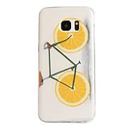 Orange Bike Pattern TPU Soft Case Phone Case for Samsung Galaxy S7 Edge/S7/S6 Edge/S6