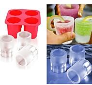чашки формы льда поделки выскакивает плесень эскимо формы йогурт коробка льда холодильник Мороженное морозильник (ramdon цвет)