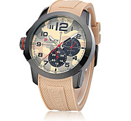 Men CURREN watch Quartz Waterproof Sports Watch Calendar Genuine Rubber Wristwatch (Assorted Color) Wrist Watch Cool Watch Unique Watch