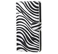 For Nokia Case Wallet / Card Holder / with Stand Case Full Body Case Black & White Hard PU Leather Nokia Lumia 650