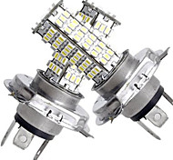 2 In 1 H4 120 SMD White LED lights 450LM