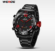 WEIDE® Men's Analog Digital LED Watch Japan Mov't Stainless Steel Watch