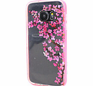 Transparent Painting Design Back Cover+Pink Bumper Cover Case for Samsung Galaxy S7 (Assorted Color)