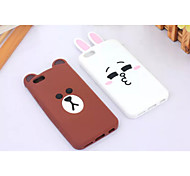 Silicone Material Gawk Bears and Kiss Rabbit Design for iPhone 6/6S (Assorted Colors)