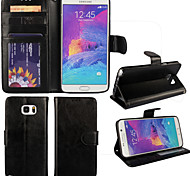 Fashion Magnetic PU Leather Credit Card Holder Wallet Case Cover for Samsung Galaxy Note 5/Note4
