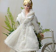 Barbie Doll White Party & Evening Polar Fleece Dresses Tops
