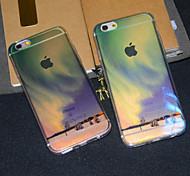 Aurora Arctic Polar Region Semitransparent Glitter Soft iphone Back  Cover for iPhone 6s Plus /iPhone 6 Plus