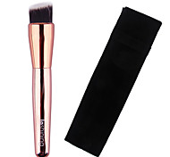 Lashining High Quality Professional Foundation Brush Gift One Black Flannelette Like metallic handle