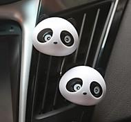 ZIQIAO 1 Pair Lovely Panda Flavor Car Air Freshener Diffuser Outlet Magic Supplies Perfume