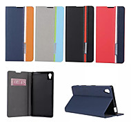 Retro Fashion Deluxe Leather flip Wallet Stand Case For Sony Sony Xperia Z5