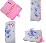 Butterfly Flowers Diamond Painted PU Phone Case for Galaxy Grand Prime G530