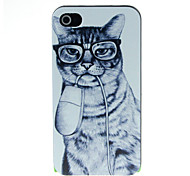 Mouse and Cat Pattern Hard Case for iPhone 4/4S