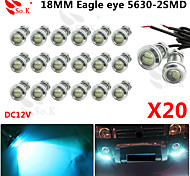 20 X ICE 12V 9W LED DRL Eagle Eye Light Car Auto Fog Daytime Reverse Signal
