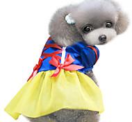 Dog Costume / Dress Yellow Spring/Fall Bowknot / Halloween Cosplay / Halloween
