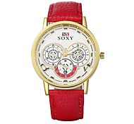 Authentic moment Leather watch Waterproof Watch men/women Watch quartz watch gold case 4 band Color WH0003A