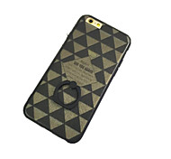 Lattice Pattern with Hand Ring Back Case for iPhone 6