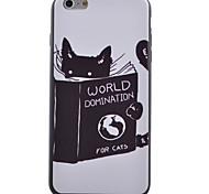 Cute Cat Pattern Black TPU Soft Case Phone Case for iPhone 6/6S