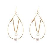 Fashion Women Trendy Simple Pearl Drop Earrings