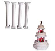 """5"""" Roman Grecian Column Pillars For Cake Stand Decorating Wedding Cake Decorating Tool,4pcs/lot"""