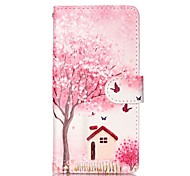 Trees and Houses Painted PU Phone Case for Samsung Galaxy A5(2016)