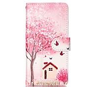 árvores e casas pintados caixa do telefone pu para Samsung Galaxy a5 (2016)