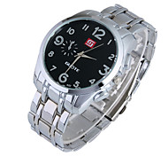 Men's Watch Fashion Digital Steel Band Quartz Watch
