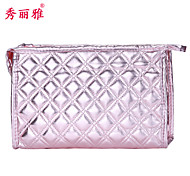 Cosmetic Bag PU 1pcs Quadrate 23x7x15cm Normal Blue / Red / Purple / Pink