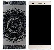 Mobile Shell funda protectora cáscara suave de TPU transparente patrón de girasol para Huawei p8 Lite