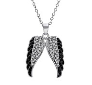 Diamond Wings Wings Pendant Necklace