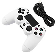dispositivo de juego gamepad con cable para PS4 (color blanco, fábrica OEM)