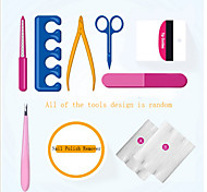 9Pcs Professional Manicure Tools Kit Rectangular Nail Files Brush Nail Art Accessories Styling Tools(Random Color)