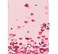 roze harten folio lederen stand beschermhoes met standaard voor Samsung Galaxy Tab een 9,7 T550 T555