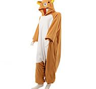 Kigurumi Pajamas Bear / Raccoon Leotard/Onesie Halloween Animal Sleepwear Brown Patchwork Polar Fleece Kigurumi UnisexHalloween /