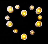 12 pcs levou velas colocadas para o aniversário festa de natal 6 pequenas 6 grandes velas