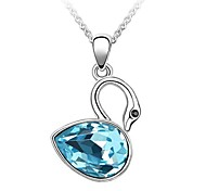Women Necklace ELegant Crystal Swan Pendant Necklace(Assorted Color)