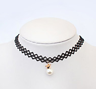 European Style Fashion Elegant Vintage Pearl Crown Bead Clover Star Choker Necklace (More Styles)