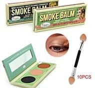 TheBalm fumaça bálsamo smokey paleta de olho 10 pcs pincel de sombras