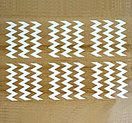 5 sheets White Metallic Design Nail Art Decal Hollow Sticker 3D Decal Manicure Decoration Accessories STZ-K10