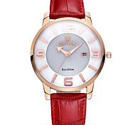 WEIQIN® Auto Date Solar Eco-Drive Watches Women Luxury Soft Genuine Leather Strap Wrist Watch Relogio Feminino Cool Watches Unique Watches