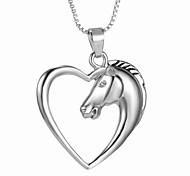 New Korean Fashion Love Pierced Horse Necklace