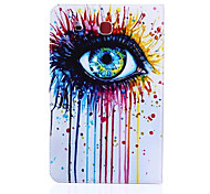 Eye Pattern PU Leather Material Tablet Sleeve for Samsung Galaxy Tab E 9.6 (T560)