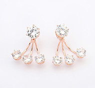 Stud Earrings Cubic Zirconia Alloy Fashion Gold Jewelry 2pcs