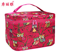 Makeup Storage Cosmetic Bag / Makeup Storage Polyester Cartoon Quadrate 21.8x16.7x15.5m Red / Pink