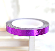 5pcs 6mm Beauty  Nail Art  Purple (Gold/Silver/Green/Coffee / Purple / Rose) Wavy Lines DIY Tools Manicure Tools ND210
