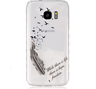 For Samsung Galaxy Case Transparent Case Back Cover Case Feathers TPU SamsungS7 / S6 edge / S6 / S5 Mini / S5 / S4 Mini / S4 / S3 Mini /