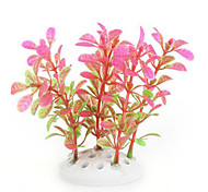 Pink Green Artificial Water Plants for Aquarium