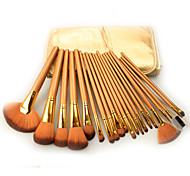 21Pcs Golden Color Makeup Brushes Professional Luxury Ornament And Kits PU Pouch of Styling Tools
