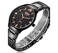 Men's Watch BOSCK With Ultra-Thin Black Tungsten Alloy Waterproof Tungsten steel strap Quartz Watch