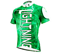 PaladinSport Men 's Short Sleeve Cycling Jersey DX627 lightning green 100% Polyester