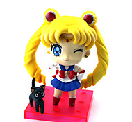 3PCS Q Version  Sailor Moon 10CM PVC Anime Action Figures Doll Toys Sets